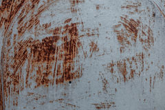 Rostig åldrig metallbakgrund Arkivfoto