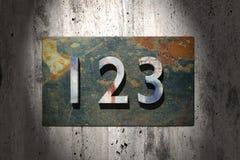 123 rostig Lizenzfreies Stockfoto