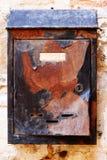 rostig askpost Arkivfoto