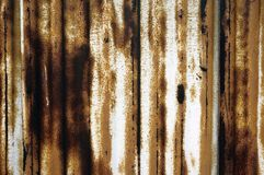 rostig bakgrund för metallväggtextur arkivfoton