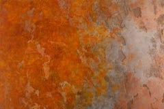 Rostig bakgrund med fläckar och skrapor Royaltyfria Foton