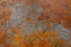 Rostig bakgrund med fläckar och skrapor Arkivfoto