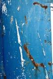 rostig blå metall Royaltyfria Bilder