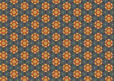 rostig blommasexhörningsmodell Arkivbilder