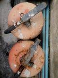 Rostig brand släcker Fotografering för Bildbyråer