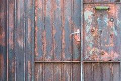 rostig dörrmetall Royaltyfri Fotografi