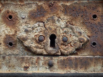 rostig forntida keyhole Royaltyfri Foto