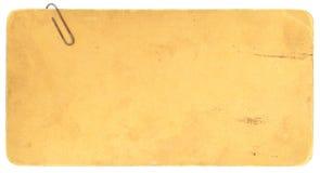 rostig gammal paperclip för carboardcopyspace Arkivfoton
