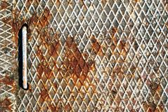 rostig grided metall royaltyfria foton