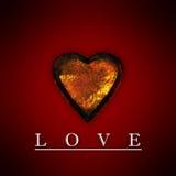 rostig hjärta för guld 2 stock illustrationer