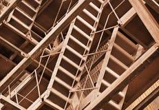 rostig industriell interlocking för konstruktioner Royaltyfria Bilder