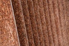 Rostig järnspårmodell - abstrakt texturbakgrund Royaltyfria Bilder
