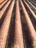 rostig korrugerad metall Royaltyfri Fotografi