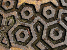 rostig manhole arkivfoton