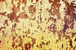 Rostig metall för textur och gammal målarfärg Arkivbild