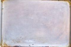 Rostig metall texturerad platta Royaltyfria Bilder