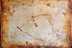 Rostig metall texturerad platta Arkivfoton