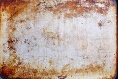 Rostig metall texturerad platta Royaltyfri Fotografi