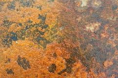 Rostig metallbakgrund Fotografering för Bildbyråer