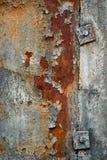 Rostig metallbakgrund Royaltyfri Fotografi