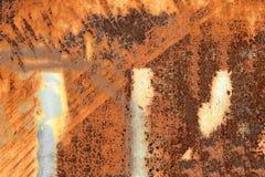 Rostig metallbakgrund, textur Royaltyfri Fotografi
