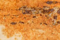 Rostig metallisk ramtexturbakgrund Arkivbild