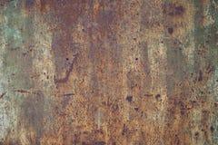 rostig metallpanel Arkivbild