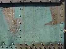 rostig metallpanel Fotografering för Bildbyråer