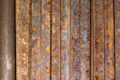 Rostig metallstång Fotografering för Bildbyråer