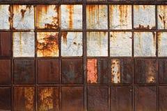 Rostig metalltextur Arkivfoto