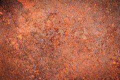 Rostig metalltexturbakgrund för inre yttre garnering fotografering för bildbyråer