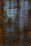 Rostig metallyttersida Arkivbild