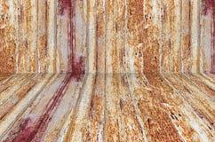 Rostig metallyttersida med rikt och olikt texturperspektiv royaltyfria foton