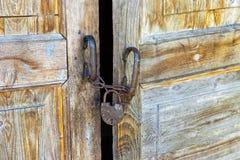 Rostig padlock Royaltyfria Foton