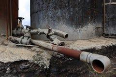 rostig pipeline Arkivbild