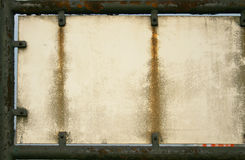 rostig platta arkivfoto