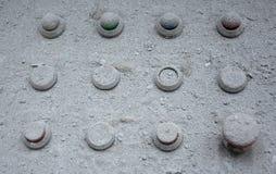 rostig platta och knappar Royaltyfri Fotografi