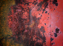 Rostig röd metall eller zink Royaltyfria Bilder