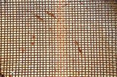 Rostig rasterjärnskärm Arkivbild