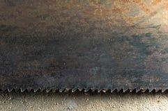 rostig saw för blad Arkivbilder