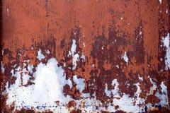 Rostig ståldörrtextur Royaltyfri Fotografi