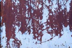 Rostig ståldörrtextur Royaltyfri Foto