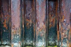rostig stålvägg Fotografering för Bildbyråer