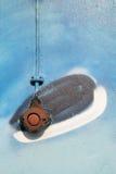 rostig strömbrytare för grafitti Fotografering för Bildbyråer