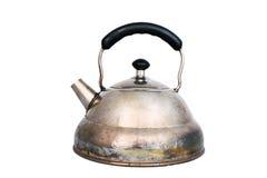 rostig tea för gammal kruka Arkivbild