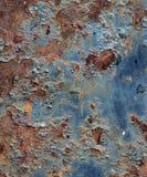 rostig textur för grungemetall Arkivbild