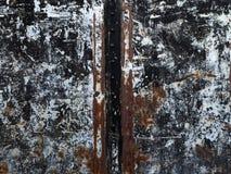Rostig textur för vit metall Arkivbild