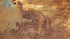 Rostig textur på metallplattan Fotografering för Bildbyråer