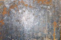 Rostig texturerad metall för gammal målarfärg royaltyfria bilder