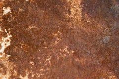 Rostig texturerad metall för gammal målarfärg arkivfoton